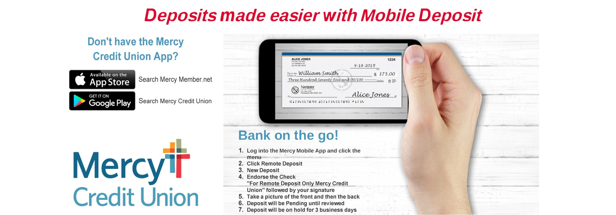 deposits made easier with mobile deposit
